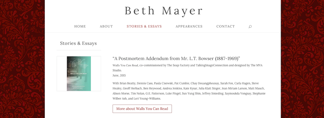 Beth Mayer, twin cities writer